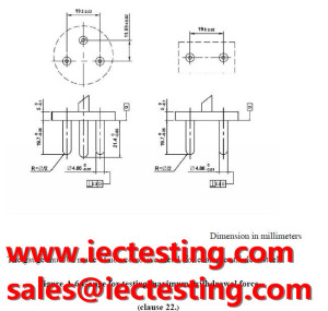 TIS 166-2549Figure A.6  Gauge for testing maximum withdrawal force