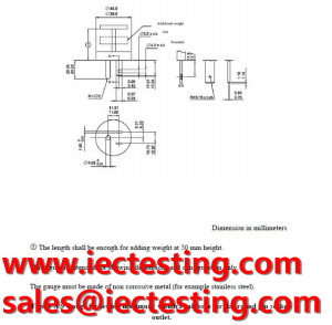 TIS 166-2549 Figure A.9  Gauge for testing maximum withdrawal force for flat-round pin socketoutlet.