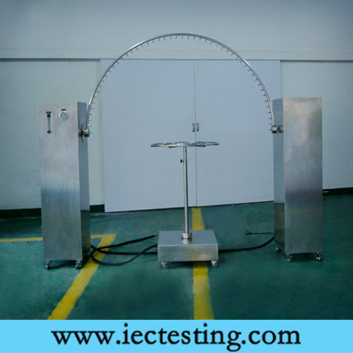 IPX3 and IPX4 Oscillating Tube IEC60529